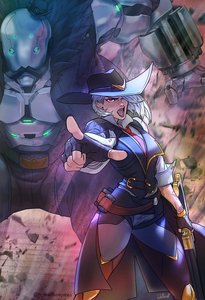 Tags: Anime, Wallace Pires, Overwatch, B.O.B. (Overwatch), Ashe (Overwatch), deviantART, Fanart, Fanart From DeviantART