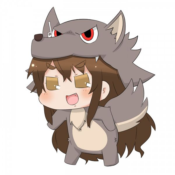 Tags: Anime, Yuurei Doushi, Kantai Collection, Ashigara (Kantai Collection), Puchimasu! (Parody), PNG Conversion