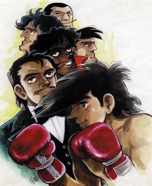 Tags: Anime, Tetsuya Chiba (Artist), Ashita no Joe, Kim Yongbi, Carlos Rivera, Jose Mendoza, Kanagushi Wolf, Yabuki Joe, Character Request