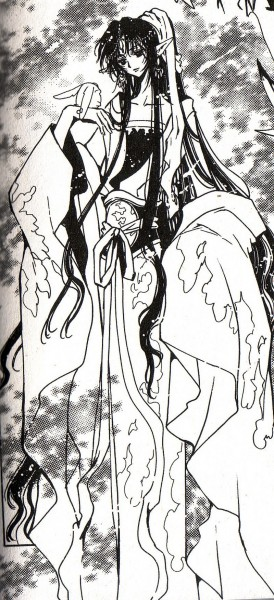 Tags: Anime, CLAMP, Tsubasa: RESERVoir CHRoNiCLE, Ashura-ou (TRC), Mokona Modoki, Official Art, Scan, Manga Page, Self Scanned