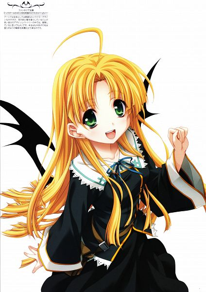 Tags: Anime, Miyama Zero, Highschool DxD, Miyama-Zero Artworks: Highschool DxD, Asia Argento, Official Art, Mobile Wallpaper, Scan