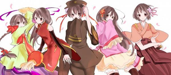 Tags: Anime, Axis Powers: Hetalia, China (Female), Taiwan, Japan (Female), South Korea (Female), Hong Kong (Female), Pixiv, Nyotalia, Artist Request, Fanart, Asian Countries