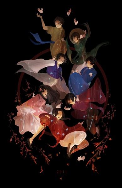 Tags: Anime, Hakuku, Axis Powers: Hetalia, Japan, Vietnam, Taiwan, South Korea, China, Thailand, Hong Kong, Aodai, Nonla, Vietnamese Clothes