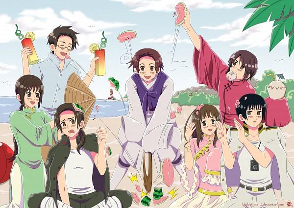 Tags: Anime, Khakipants12, Axis Powers: Hetalia, China, South Korea, Hong Kong, Thailand, Japan, Taiwan, Vietnam, Cocktail, Vietnamese Clothes, Nonla