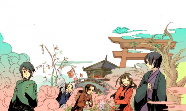 Tags: Anime, Axis Powers: Hetalia, China, Hong Kong, Japan, South Korea, Taiwan, Tanabata, Artist Request, Asian Countries