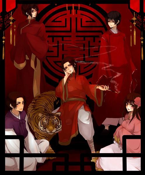 Tags: Anime, Hachiro, Axis Powers: Hetalia, China, Hong Kong, Japan, South Korea, Taiwan, Fanart, Pixiv, Asian Countries, Axis Power Countries