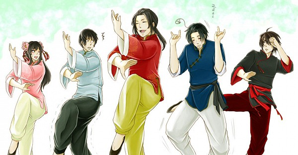 Tags: Anime, Axis Powers: Hetalia, South Korea, Taiwan, China, Hong Kong, Japan, Tai Chi, Pixiv, Fanart, Facebook Cover, Axis Power Countries, Allied Forces