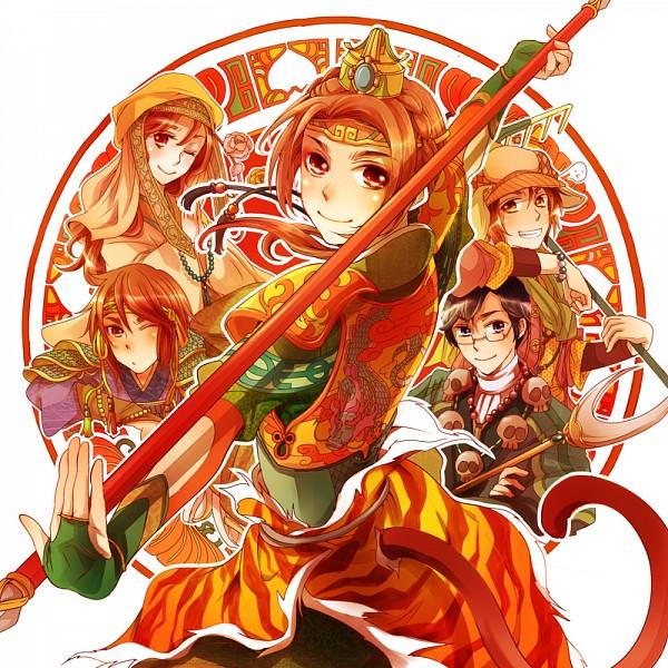 Tags: Anime, Shiomachi Kona, Axis Powers: Hetalia, Taiwan, South Korea, China, Macau, Hong Kong, Hetaween, Hetaween 2011, Pixiv, Fanart, Asian Countries