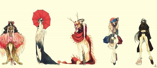Tags: Anime, Viva-la-lixi (artist), Axis Powers: Hetalia, Japan (Female), Taiwan, Hong Kong (Female), China (Female), South Korea, China, South Korea (Female), Fanart, deviantART, Facebook Cover