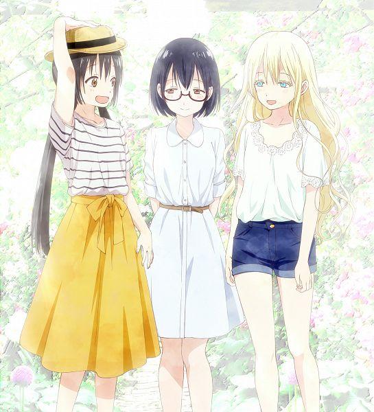Tags: Anime, Kurosawa Keiko, Lerche, Asobi Asobase, Nomura Kasumi, Olivia (Asobi Asobase), Honda Hanako, Official Art, Key Visual, Cover Image