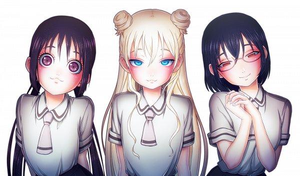 Tags: Anime, Pixiv Id 6371574, Asobi Asobase, Nomura Kasumi, Olivia (Asobi Asobase), Honda Hanako, Fanart