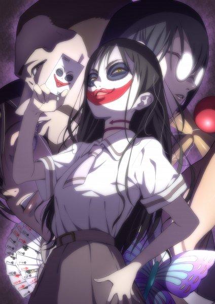 Tags: Anime, ЯUk∀, Asobi Asobase, Honda Hanako, Maeda (Asobi Asobase), Nomura Kasumi, Joker, Pixiv