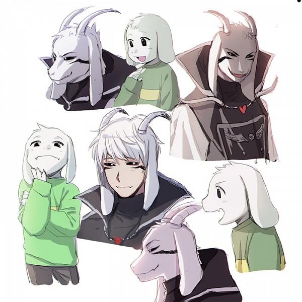 Tags: Anime, Tkdvlf2, Undertale, Asriel Dreemurr, Yagimimi, Striped Sweater, Striped Outerwear, Twitter, PNG Conversion, Fanart