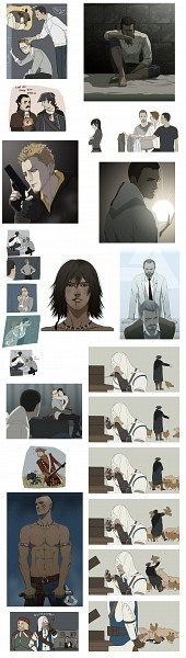 Tags: Anime, Doubleleaf, Assassin's Creed, Assassin's Creed III, Assassin's Creed II, Shaun Hastings, William Miles, Rebecca Crane, Haytham Kenway, Connor Kenway (Ratohnhaké:Ton), Desmond Miles, Character Request