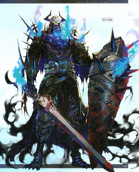 Tags: Anime, A'J, DELiGHTWORKS, Fate/Grand Order material V, Fate/Grand Order, Assassin (King Hassan), Azrael (Sword), Official Art, Scan