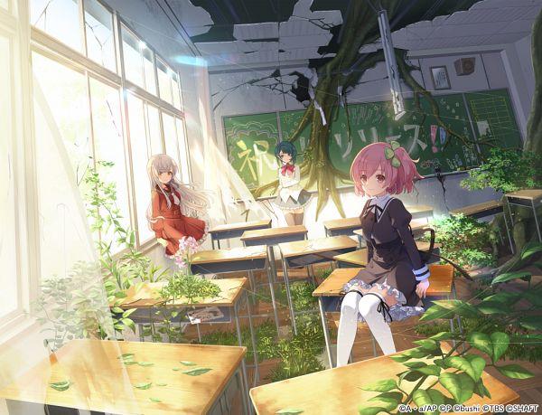 Tags: Anime, Hosoi Mieko, Pokelabo, Assault Lily Project, Assault Lily Last Bullet, Aizawa Kazuha, Hitotsuyanagi Riri, Kon Kanaho, Official Card Illustration, Official Art