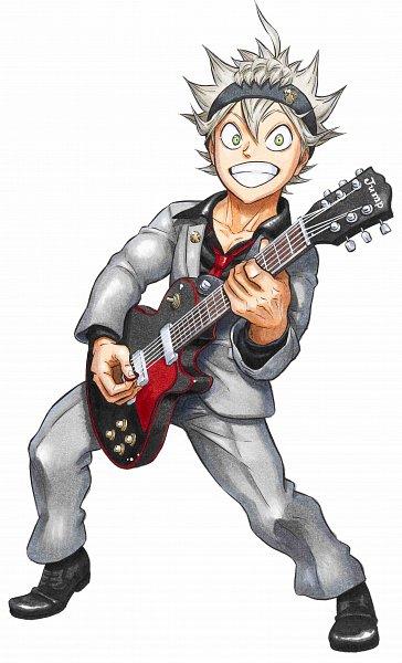 Tags: Anime, Tabata Yuuki, Black Clover, Asta (Black Clover), Electric Guitar, Playing Guitar, Official Art