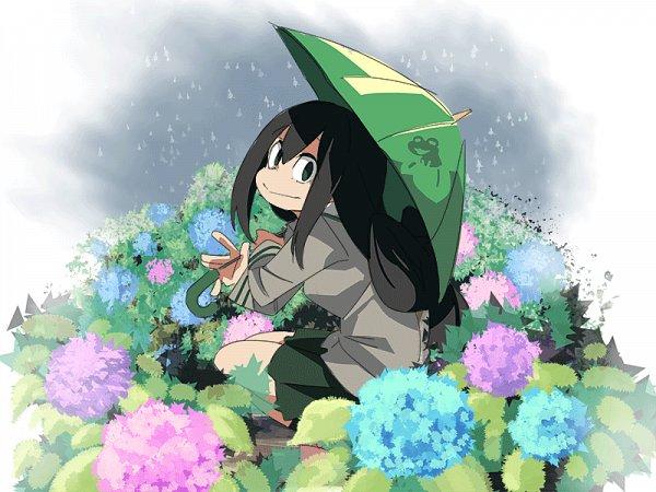 Tags: Anime, Pixiv Id 3593195, Boku no Hero Academia, Asui Tsuyu, Wallpaper, Fanart, Fanart From Pixiv, Pixiv