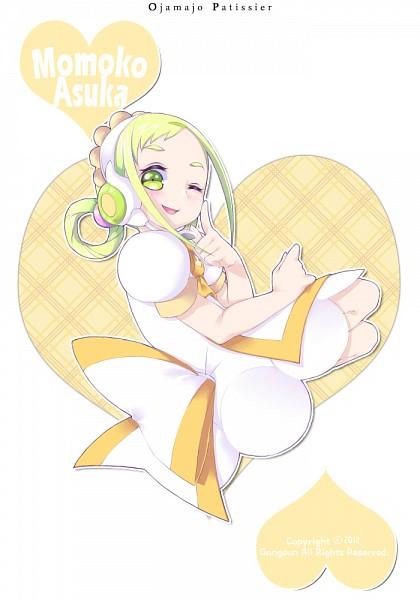 Tags: Anime, Pixiv Id 3046064, Ojamajo DoReMi, Asuka Momoko, Yellow, Pâtissier Intercom, Fanart