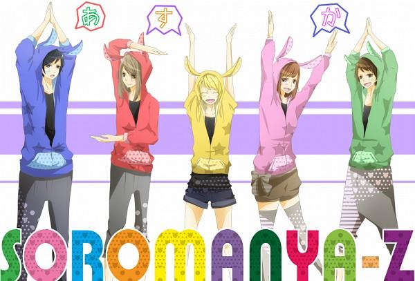 Tags: Anime, Teto-to, Soraru, Suzumu, Saine (Character), Lon, MACCO (Character), Text: Character Group Name, Character Symbol, Pixiv, Nico Nico Douga, Nico Nico Singer, Asukasoromanya-z