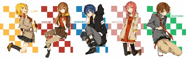 Tags: Anime, Raria, Lon, Saine (Character), MACCO (Character), Soraru, Suzumu, Pixiv, Nico Nico Douga, Nico Nico Singer, Twitter Header, Asukasoromanya-z