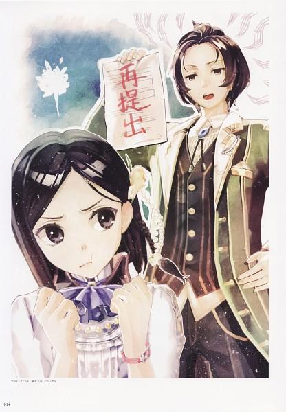 Tags: Anime, Hidari, Gust, Atelier Escha & Logy Official Visual Book, Atelier Escha & Logy, Marion Quinn, Solle Grumman, Scan, Official Art