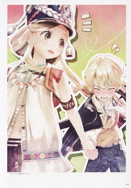 Tags: Anime, Hidari, Gust, Atelier Escha & Logy Official Visual Book, Atelier Escha & Logy, Katla Larchica, Micie Sun Mussemburg, Scan, Official Art