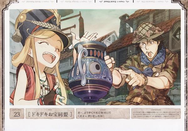 Tags: Anime, Hidari, Gust, Atelier Escha & Logy Official Visual Book, Atelier Escha & Logy, Katla Larchica, Harry Olson, Scan, Official Art