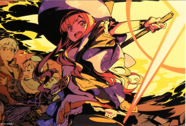 Tags: Anime, Himukai Yuuji, Gust, Atelier Escha & Logy, Logix Fiscario, Escha Malier, Wilbell Voll ErsLied, Scan, End Cards, Atelier Escha & Logy - End Cards