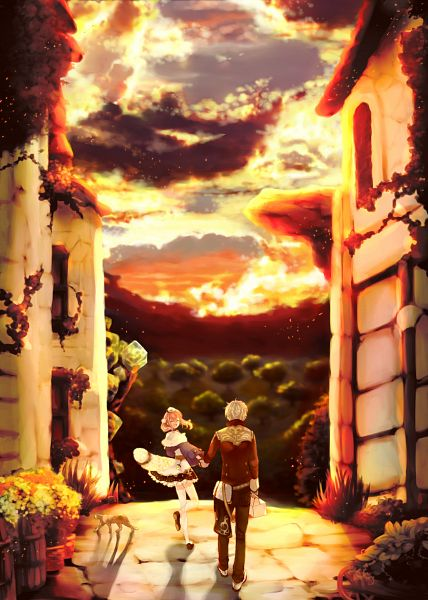 Tags: Anime, Atelier Escha & Logy, Logix Fiscario, Escha Malier, Mobile Wallpaper