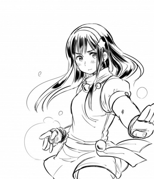Tags: Anime, Himaruya Hidekaz, The King of Fighters, Athena (King of Fighters), Line Art, Fanart