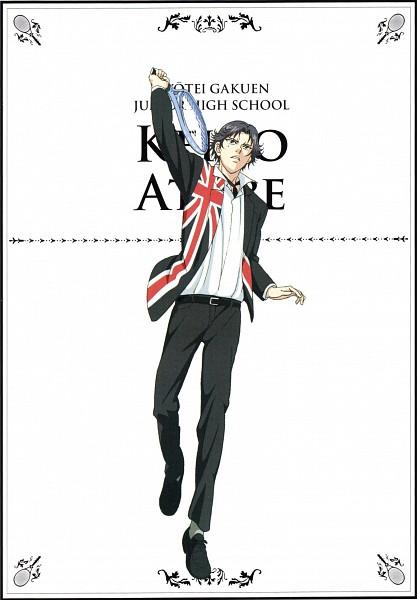 Tags: Anime, Konomi Takeshi, Production I.G., Tennis no Ouji-sama, Atobe Keigo, Tennis Racket, Official Art, Mobile Wallpaper, Scan
