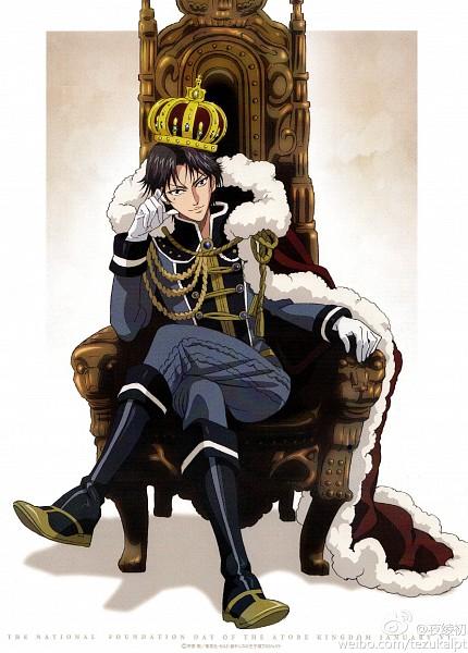 Tags: Anime, Konomi Takeshi, Production I.G., New Prince of Tennis, Tennis no Ouji-sama, Atobe Keigo, Mobile Wallpaper, Scan, Official Art