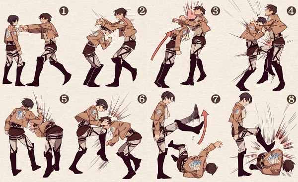 Tags: Anime, Bangoul, Attack on Titan, Levi Ackerman, Eren Jaeger, Fanart, Fanart From Pixiv, Pixiv