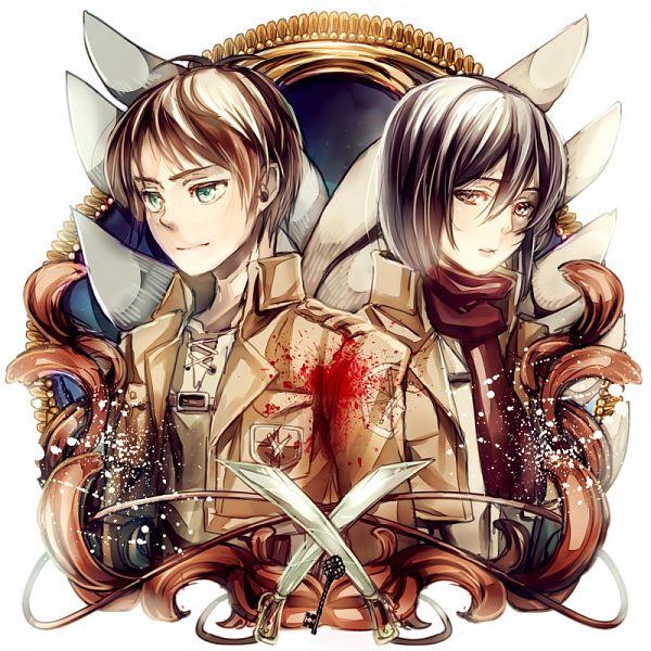 Tags: Anime, Fuu Takara, Attack on Titan, Mikasa Ackerman, Eren Jaeger