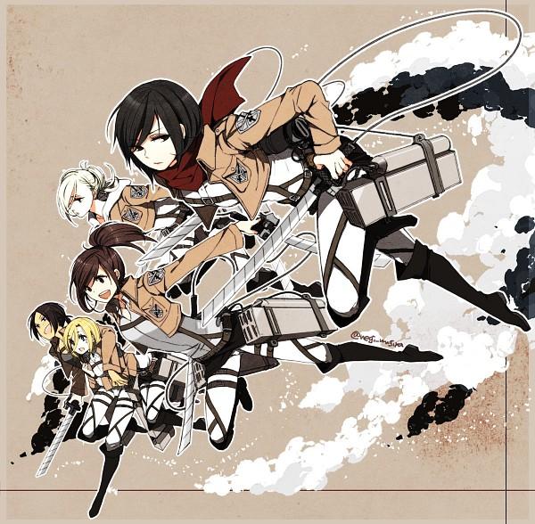 Tags: Anime, Pixiv Id 421335, Attack on Titan, Annie Leonhardt, Christa Renz, Mikasa Ackerman, Ymir (Shingeki no Kyojin), Sasha Braus