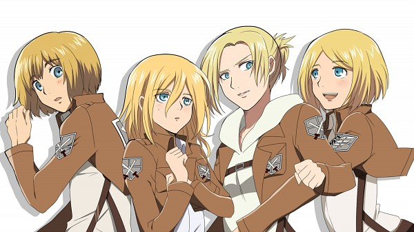 Tags: Anime, Compacthuman, Attack on Titan, Christa Renz, Petra Ral, Armin Arlert, Annie Leonhardt, Characteristic Connection, Facebook Cover