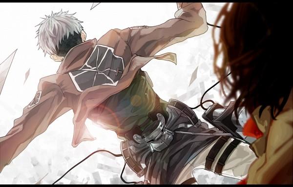 Tags: Anime, Dakadou, Attack on Titan, Jean Kirschstein, Mikasa Ackerman, PNG Conversion, Pixiv, JeanMika