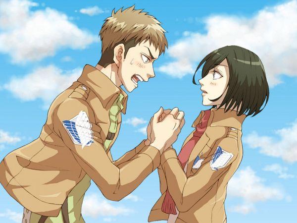 Tags: Anime, Pixiv Id 6907427, Attack on Titan, Mikasa Ackerman, Jean Kirschstein, JeanMika