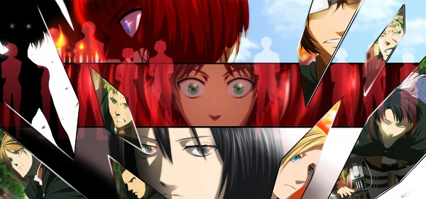 Tags: Anime, Miyama Yomema, Attack on Titan, Eren Jaeger, Female Titan, Titan (Shingeki no Kyojin), Levi Ackerman, Gunter Schulz, Hange Zoë, Mikasa Ackerman, Auruo Bossard, Armin Arlert, Erd Gin