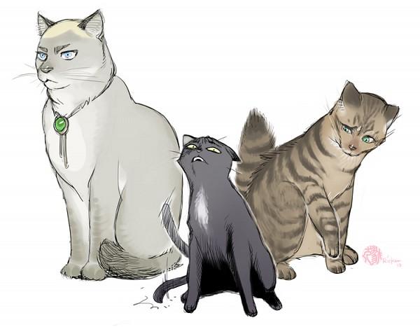 Tags: Anime, Ricken-art, Attack on Titan, Eren Jaeger, Levi Ackerman, Erwin Smith, Bolo Tie, A Cat On Titan, Fanart, Sketch