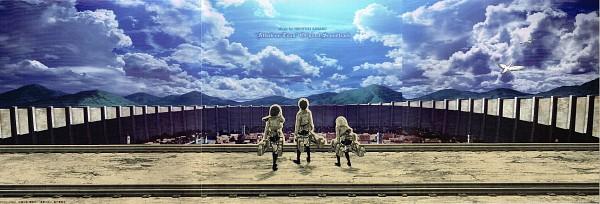 Tags: Anime, WIT STUDIO, Attack on Titan, Mikasa Ackerman, Armin Arlert, Eren Jaeger, CD (Source), Twitter Header, Official Art, Scan