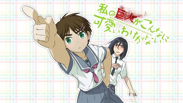 Tags: Anime, Sapphiresky1410, Attack on Titan, Mikasa Ackerman, Eren Jaeger, Ore no Imouto ga Konna ni Kawaii Wake ga Nai (Parody), Plaid Background, Wallpaper, Fanart, HD Wallpaper, Facebook Cover