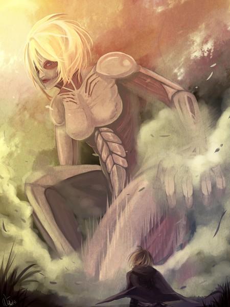 Tags: Anime, Weixi, Attack on Titan, Female Titan, Titan (Shingeki no Kyojin), Armin Arlert, Fanart From DeviantART, deviantART, Fanart