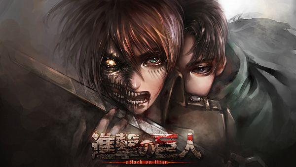 Tags: Anime, Pixiv Id 6005903, Attack on Titan, Eren Jaeger, Levi Ackerman, Rogue Titan, Pixiv, Wallpaper, HD Wallpaper, Fanart, Facebook Cover, Fanart From Pixiv