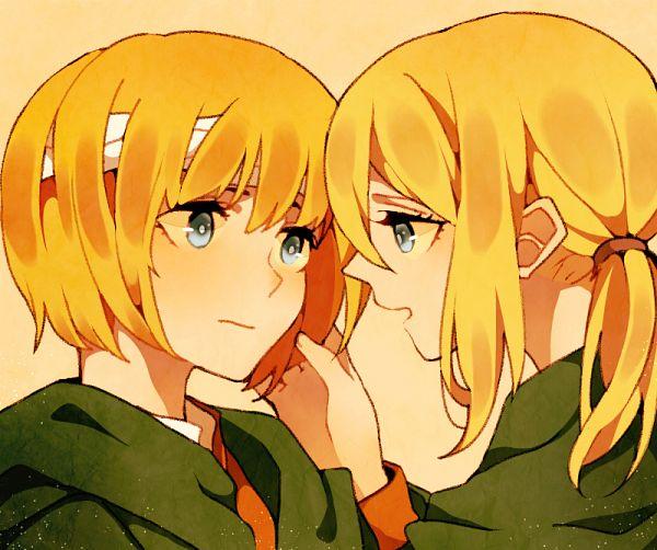 Tags: Anime, Pixiv Id 4758050, Attack on Titan, Christa Renz, Armin Arlert, Characteristic Connection, AruKuri