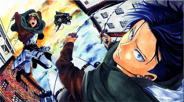Tags: Anime, Satou Yuuki, Attack on Titan, Petra Ral, Levi Ackerman, Auruo Bossard, Wallpaper, Facebook Cover, End Cards, Shingeki no Kyojin - End Cards, Scan