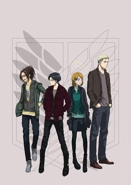 Tags: Anime, Pixiv Id 5474262, Attack on Titan, Erwin Smith, Petra Ral, Hange Zoë, Levi Ackerman, Revision, Fanart From Pixiv, Pixiv, Mobile Wallpaper, Fanart