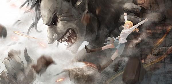 Tags: Anime, Die (Artist), Attack on Titan, Dancing Titan, Titan (Shingeki no Kyojin), Christa Renz, Facebook Cover, Fanart From Pixiv, Pixiv, Fanart