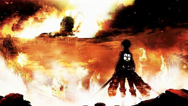 Tags: Anime, Attack on Titan, Eren Jaeger, Colossal Titan, Titan (Shingeki no Kyojin), HD Wallpaper, Facebook Cover, Wallpaper